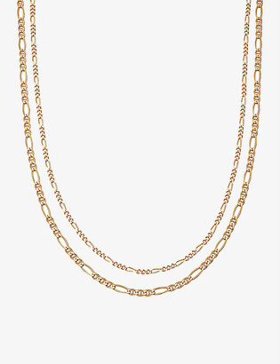 Missoma Filia double-chain 18ct gold-plated vermeil silver necklace