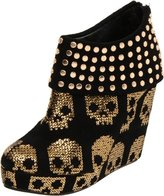 Iron Fist Women's Gold Star Wedge Boot