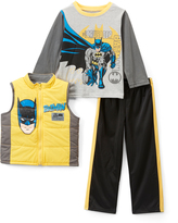 Children's Apparel Network Batman Puffer Vest Set - Kids