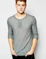 !solid Henley Long Sleeve T-shirt