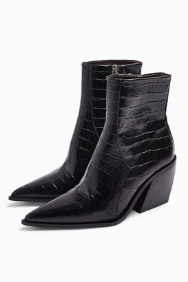 Topshop HONOUR Leather Western Boots