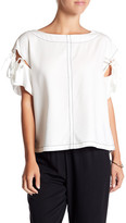 Tracy Reese Tie-Sleeve Boatneck Blouse