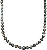 Belle de Mer Pearl Necklace, 14k Gold Cultured Tahitian Black Pearl Strand (8-9mm)