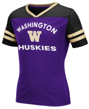 Colosseum Big Girls Washington Huskies Faboo T-Shirt