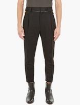 Haider Ackermann Black Dropped-crotch Trousers
