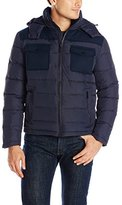 Kenneth Cole New York Men's Mixed Media Down Jacket