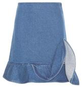 J.W.Anderson Ruffled Denim Skirt