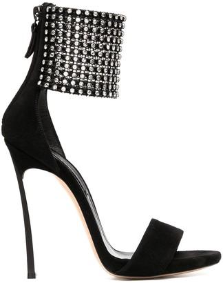 Casadei Embellished-Cuff Sandals