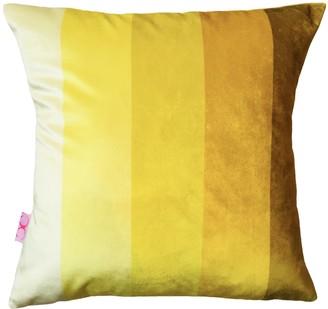 Chloe Croft London Limited Lime Stripe Velvet Cushions