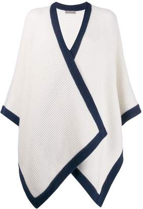 N.Peal contrast edge cape cardigan