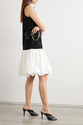 Givenchy - Ruffled Plisse-satin, Cady And Taffeta Mini Dress - Black