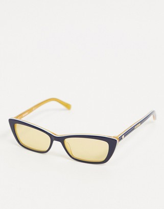 Love Moschino square cat eye sunglasses in blue