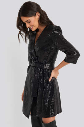 MANGO Disco Dress Black