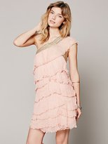 Free People Maheya One Shoulder Ruffle Dress