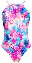 Heaven Coral Mania High Neck One Piece