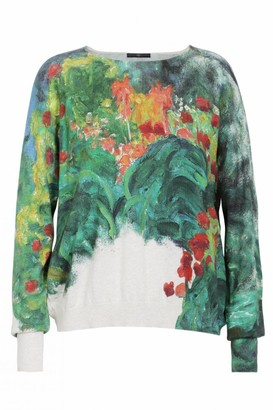 High Visionary Soft Impressionist Printed Sweater - Small