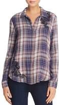 Aqua Embroidered Plaid Shirt - 100% Exclusive