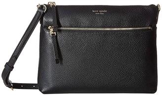 Kate Spade Polly Medium Crossbody (Black) Handbags