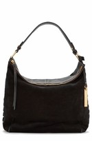 Vince Camuto Tatia Leather Hobo Bag - Black