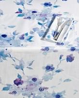 "Lenox Indigo Floral 70"" Round Tablecloth"