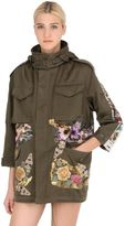 Antonio Marras Floral Embellished Cotton Field Jacket