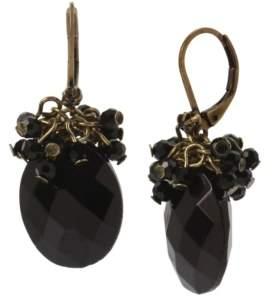 Miriam Haskell New York Oval Bead Drop Earrings