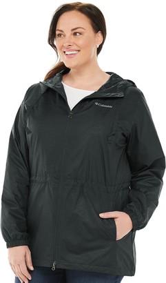 Columbia Plus Size Wake III Hood Rain Jacket