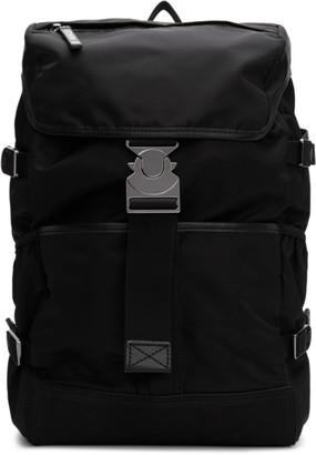 Moncler Black Rhone Backpack