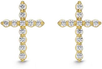Memoire 18K 0.27 Ct. Tw. Diamond Cross Studs