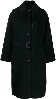 Joseph Hooded Mid-Length Coat