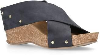 Carvela Sooty Leather Wedges 80