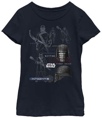 Fifth Sun Ren Maps Girls Crew Neck Short Sleeve Star Wars Graphic T-Shirt - Big Kid