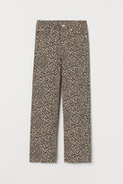 H&M Straight High Ankle Jeans - Beige