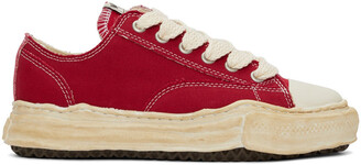 Miharayasuhiro Red Over-Dyed OG Sole Peterson Sneakers