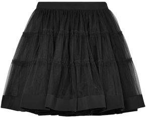 Moschino Satin-trimmed Tulle Mini Skirt