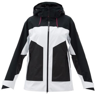 Bogner Fire & Ice Faona Hooded Colour-block Ski Jacket - White Black