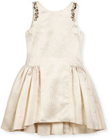Zoë Ltd Sleeveless Embossed Metallic A-Line Dress, Gold, Size 7-16