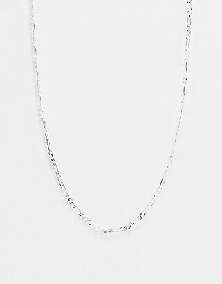 Topshop House Of Freedom House of Freedom by open link chain necklace in silver plate