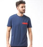Original Penguin Mens Embroidered Logo T-Shirt Dress Blue