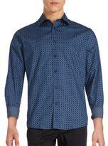 Ben Sherman Geo Chain Link Button-Down Shirt
