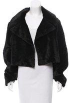 Cushnie et Ochs Cropped Fur Jacket w/ Tags
