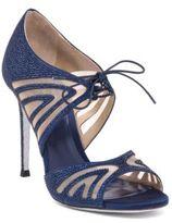 Rene Caovilla Mesh & Strass Peep Toe Sandals