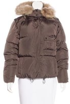 Burberry Fur-Trimmed Quilted Jacket