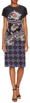 Mary Katrantzou Hunter Silk Printed Sheath Dress