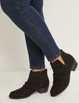 Lane Bryant Faux Suede Scrunch Ankle Boot