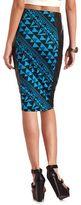 Charlotte Russe PU Side Ponte Midi Skirt