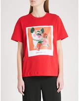 Mo&Co. Boyfriend cut printed T-shirt