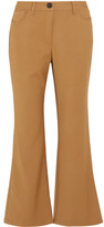 Opening Ceremony Loren Cropped Stretch-Woven Flared Pants