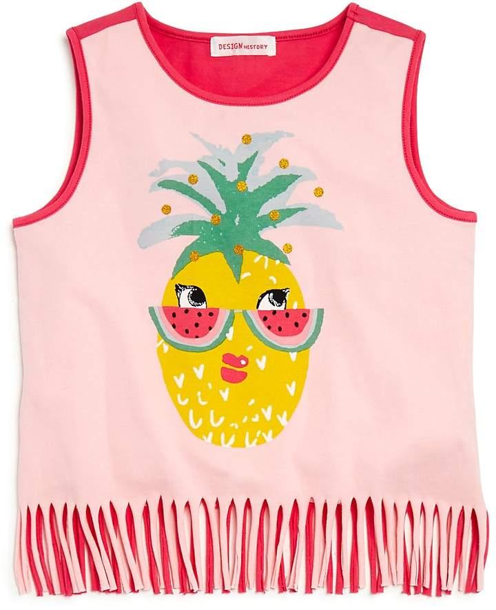 Design History Girls' Fringed Pineapple Tank
