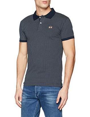 La Martina Men's Man Polo S/s Cotton Printed Je Shirt